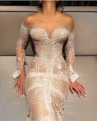 swarovski siege wedding dress j aton couture swarovski studded pearl sheath