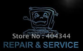 LB730 puter Repair and Service Bar LED Neon Light Sign home