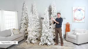 9 Ft Slim Christmas Tree Prelit by Narrow Flocked Austin Pine Pre Lit Slim Christmas Tree Product