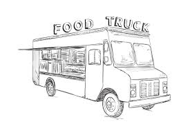 Hand Drawn Food Truck ~ Illustrations ~ Creative Market Semi Truck Outline Drawing Peterbilt Coloring Page How To Sketch 3d Arstic Of A Simple Draw Youtube An F150 Ford Pickup Step By Guide Illustration With Royalty Pencil Sketches Trucks Drawings Excellent Vector Cliparts To A Chevy Drawingforallnet Black White Stock 551664913 Old Speed Diesel Transportation Free