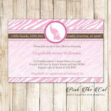 30 Invitations Jungle Elephant Birthday Baby Shower Pink Girl Cards