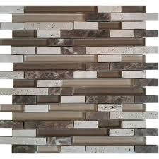 Royal Mosa Tile Canada by Avenzo 12 In X 12 In Cafe Glass U0026 Stone Mosaic Wall Tile At Lowe U0027s