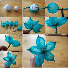 DIY Beautiful Tissue Paper Flower Using A Golf Ball