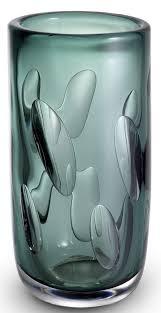 casa padrino luxus deko glas vase grün ø 14 x h 29 cm elegante mundgeblasene blumenvase wohnzimmer deko accessoires