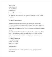 Freelance Photographer Resume Sample Photography Disclaimer Examples Template Monster Logo