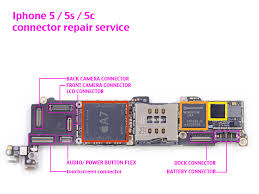 iPhone 5 5s 5c SE FPC Connectors Repair Service Replacement xFix