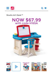 Step2 Deluxe Art Master Desk With Chair by Step 2 Studio Art Desk With Chair Whitevan