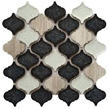 American Olean Mosaic Tile Canada by Shop Bestview Galena Grey Lantern 12 In X 12 In Stone And Glass