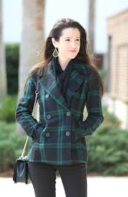 old navy black plaid peacoat diary of a debutante