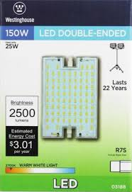 25r7s led cl 27 25 watt ended led light bulb 2700k ww rsc