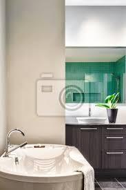 moderne badezimmer mit weichen pastell farben grün bilder myloview