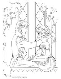 Anna And Prince Hans Are In Love He Asks Her To Marry Him Another Awesome Printable Disney Frozen Coloring Page Have Fun