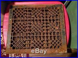 cast iron floor heat register grate with louvers