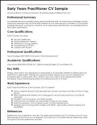 Cv Template Key Skills Feat Key Qualifications Early Years