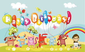 Animated happy birthday wishes high resolution desktop background