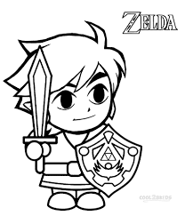 Awesome Zelda Coloring Pages 95 In Free Book With