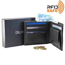 Mens Leather Dresser Valet by By Diloro Italy Mens Leather Wallet Bifold Coin Back Slip Pocket