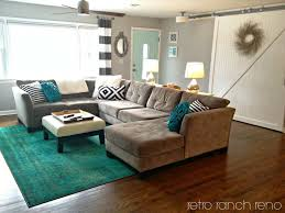 teal rug living room rug barn door aqua striped