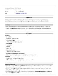 Software Developer Resume Template Java Sample For Fresher