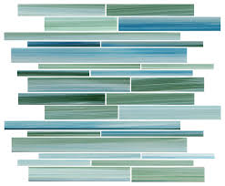 rip curl green and blue painted linear glass mosaic tile