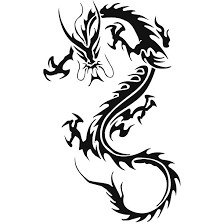 Tribal Chinese Dragon Tattoo For Men