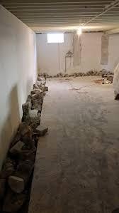 milwaukee interior drain tile drain tile installation pewaukee