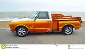 100 White Pick Up Truck Classic Gold And Up Editorial Stock Image Image Of