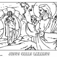 Coloring Page Of Jesus Raising Lazarus Archives