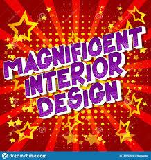 100 Interior Design Words Magnificent Comic Book Style Stock Vector