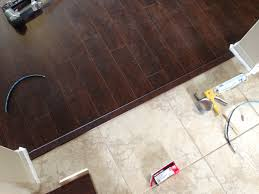 floor transition laminate to herringbone tile pattern model