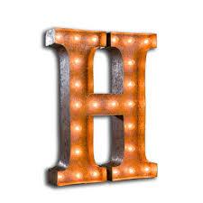 Letter Light Number 5 The Vintage Industrial