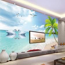 fototapete high definition tapete palm strand romantische schwanensee tv hintergrund wohnzimmer wandbild tapete