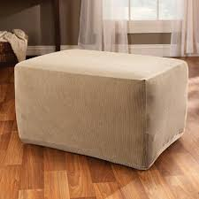 Sure Fit Stretch Stripe Ottoman Slipcover - Walmart.com Chair And Ottoman Slipcovers Sectional House Plan And Tips T Cushion For Wing Chairs With Soft Elegant Interior Amazoncom Sure Fit Stretch Leather Slipcover Brown Fniture Sofa Covers At Walmart Linen Couch Sofas Marvelous Loveseat White Arhaus With Camden Collection Ebth Ideas Chic Pottery Barn Better Look Summer For Wingback The Maker Apartments Stunning Living Room Decoration Chrome Club Set Allen Beige Fabric