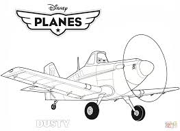 Disney Planes Dusty Coloring Page Free Printable Pages And Plane