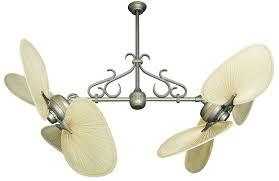 Ceiling Fan With Palm Leaf Blades by Dans Fan City Miami Twin Star Ii Double Ceiling Fan With 56 In