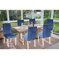4x esszimmerstuhl stuhl küchenstuhl littau samt petrol helle beine