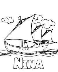 Columbus Fleet Nina On Day Coloring Page
