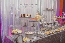 Classy Dessert Table Wedding Silver
