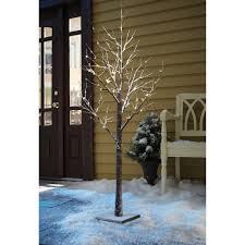 White Fibre Optic Christmas Tree 6ft by 120 Led Large 6ft 180cm White Snowy Pre Lit Christmas Twig Tree