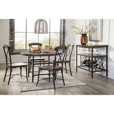 Wayfair Dining Room Side Chairs by Ashley Furniture Rolena Round Dining Room Table Set In Brown
