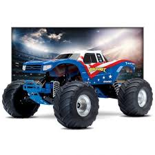 Traxxas Bigfoot RC Monster Truck 2WD 1/10 RTR Red White Blue Edition