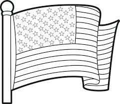 Cool Flag Outline Coloring Page Free Pages Us Collection With Regard To