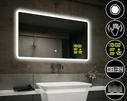badspiegel mit led beleuchtung wandspiegel lautsprecher