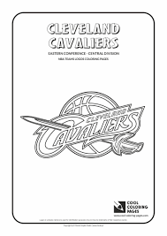 Cleveland Cavaliers Logo Coloring Page From NBA Category Select
