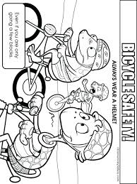 Bike Helmet Safety Coloring Pages High Quality