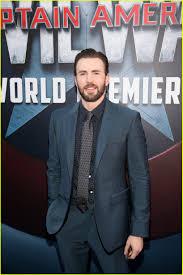 Chris Evans Sebastian Stan Rep Team Cap At Civil War Premiere
