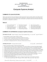Business Analyst Resume Examples Of Resumes Systems Example It System