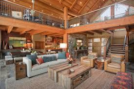 Modern Rustic Living Room Design Ideas With Wood Ceiling Beams Beige Sofa Open Floor Plan