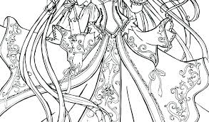 My Little Pony Coloring Pages Princess Celestia In A Dress Color Anime