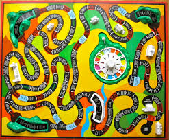 Cars To Drive Around Mountains And Bridges Over Pay Days A The Original Hasbro Game Board